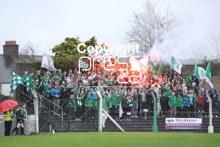 30/1/2016   St. Colman's College Supporters during the game. St. Colman's College v Ard Scoil Ris, Harty Cup Semi-Final, Killmallock, Co. Limerick <br /> Picture Credit: Gareth Williams /  Press 22