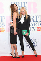 Emma Bunton and Melanie C arriving at The Brit Awards 2015 (Brits) held at the O2 - Arrivals, London. 25/02/2015 Picture by: James Smith / Featureflash