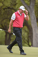 Phil Mickelson (USA) tips his hat after his eagle putt in on 6 during day 3 of the World Golf Championships, Dell Match Play, Austin Country Club, Austin, Texas. 3/23/2018.<br /> Picture: Golffile | Ken Murray<br /> <br /> <br /> All photo usage must carry mandatory copyright credit (&copy; Golffile | Ken Murray)
