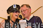 Helena O'Riordain with Tom Greaney MC Pictured at the Fancy Dress parade in the Knocknagoshel Festival on Friday