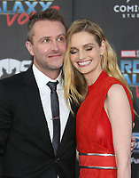 "HOLLYWOOD, CA - April 19: Chris Hardwick, Lydia Hearst, At Premiere Of Disney And Marvel's ""Guardians Of The Galaxy Vol. 2"" At The Dolby Theatre  In California on April 19, 2017. Credit: FS/MediaPunch"