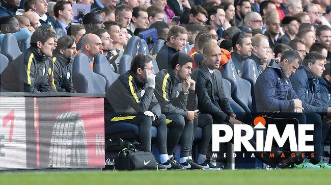 Manchester City manager Pep Guardiola <br /> during the Premier League match between Tottenham Hotspur and Manchester City at White Hart Lane, London, England on 2 October 2016. Photo by Kieran  Galvin / PRiME Media Images.