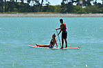 NELSON, NEW ZEALAND - January 28: Saturday Morning on the water at Tahunanui Beach, Nelson, New Zealand. Saturday 28 January 2017. (Photo by: Barry Whittnall/Shuttersport Limited)