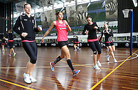 02.09.2016 Silver Ferns during training in Melbourne Australia. Mandatory Photo Credit ©Michael Bradley.