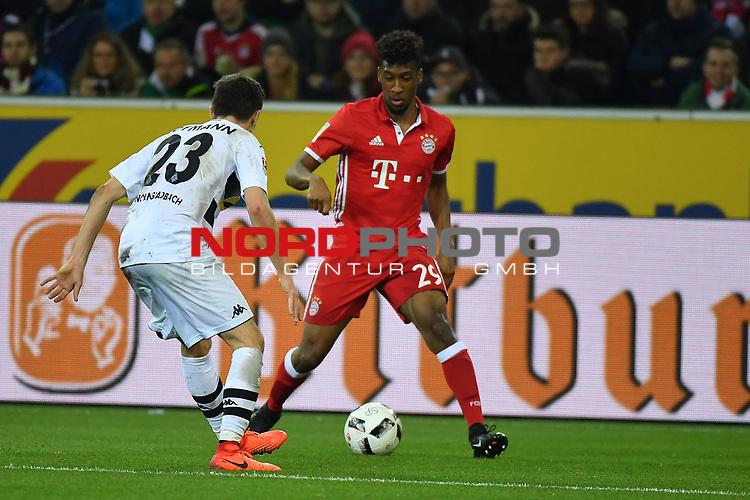 19.03.2017, Borussia-Park, Moenchengladbach, GER, 1.FBL., Borussia M&ouml;nchengladbach. vs. FC Bayern Muenchen<br /> <br /> im Bild / picture shows: <br /> Kingsley Coman  (FC Bayern Muenchen #29),im Zweikampf gegen Jonas Hofmann (Gladbach #23),<br /> <br /> <br /> Foto &copy; nordphoto / Meuter