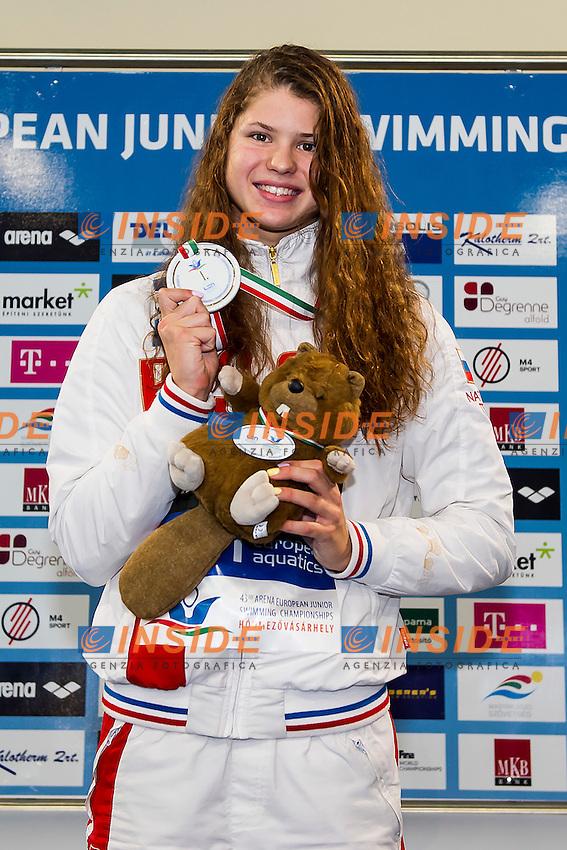 Kameneva Mariia RUS<br /> 50 Butterfly Women Final Gold Medal<br /> LEN 43rd Arena European Junior Swimming Championships<br /> Hodmezovasarhely, Hungary <br /> Day05 10-07-2016<br /> Photo Andrea Masini/Deepbluemedia/Insidefoto