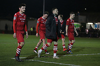 Disappointment for Hornchurch players during Hornchurch vs Aveley, Buildbase FA Trophy Football at Hornchurch Stadium on 11th January 2020