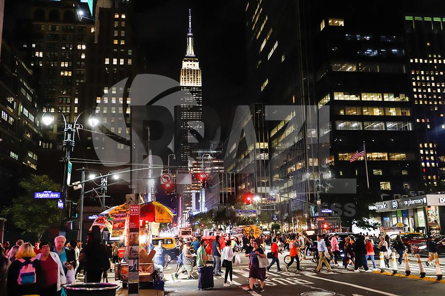 NOVA YORK, EUA, 05.10.2018 - TURISMO-EUA - Vista do Empire State Building na Ilha de Manhattan Nova York nos Estados Unidos nesta sexta-feira, 05. (Foto: William Volcov/Brazil Photo Press/Folhapress)
