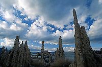 Storm clouds form over MONO LAKE at SOUTH TUFA GROVE in this National Scenic Area