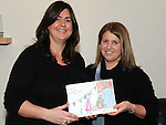 Jillian Stout pictured with her new book and it's illustrator Gillian McCulloch. Photo: Colin Bell/pressphotos.ie