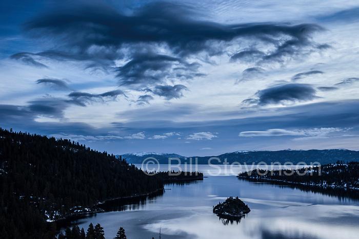 Storm clouds at Emerald Bay, Lake Tahoe