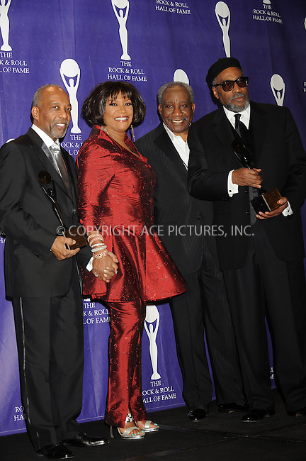 WWW.ACEPIXS.COM . . . . . ....March 10 2008, New York City....Singer Patti LaBelle (2nd from L) and singer Jerry Butler (2nd from R) pose with Inductees Kenny Gamble (L) and Leon Huff (R) in the press room at the 2008 Rock & Roll Hall of Fame Induction ceremony at the Waldorf-Astoria Hotel in midtown Manhattan....Please byline: KRISTIN CALLAHAN - ACEPIXS.COM.. . . . . . ..Ace Pictures, Inc:  ..(646) 769 0430..e-mail: info@acepixs.com..web: http://www.acepixs.com