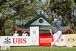 Jazz Janewattananond of Thailand tees off the 18th hole during the 58th UBS Hong Kong Golf Open as part of the European Tour on 08 December 2016, at the Hong Kong Golf Club, Fanling, Hong Kong, China. Photo by Vivek Prakash / Power Sport Images