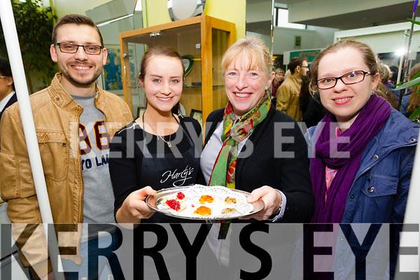 Radeke Kowalski, Katie Daly Melanie Harty and Anna Kurdziel at food 4 thought at the IT Tralee on Wednesday.