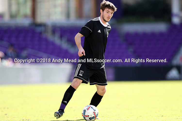 Orlando, Florida - Monday January 15, 2018: Luis Argudo. Match Day 2 of the 2018 adidas MLS Player Combine was held Orlando City Stadium.