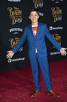 Asher Angel at the premiere for Disney's &quot;Beauty and the Beast&quot; at El Capitan Theatre, Hollywood. Los Angeles, USA 02 March  2017<br /> Picture: Paul Smith/Featureflash/SilverHub 0208 004 5359 sales@silverhubmedia.com