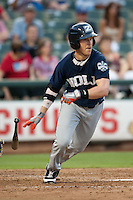 New Orleans Zephyrs outfielder Chris Coghlan #7 heads to first base during the Pacific Coast League baseball game against the Round Rock Express on May 2, 2012 at The Dell Diamond in Round Rock, Texas. The Express defeated the Zephyrs 10-5. (Andrew Woolley / Four Seam Images)