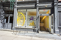 A branch of the widely popular SoulCycle exercise studio in the Soho neighborhood of New York on Sunday, June 7, 2015. (© Richard B. Levine)