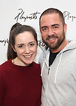 Ian Harvie and Talene Monahon attends the photo call for Playwrights Horizons world premiere production of 'Log Cabin' on May 8, 2018 at Playwrights Horizons rehearsal hall in New York City.
