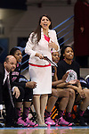 19 February 2015: Wake Forest assistant coach Clarisse Garcia. The University of North Carolina Tar Heels hosted the Wake Forest University Demon Deacons at Carmichael Arena in Chapel Hill, North Carolina in a 2014-15 NCAA Division I Women's Basketball game.