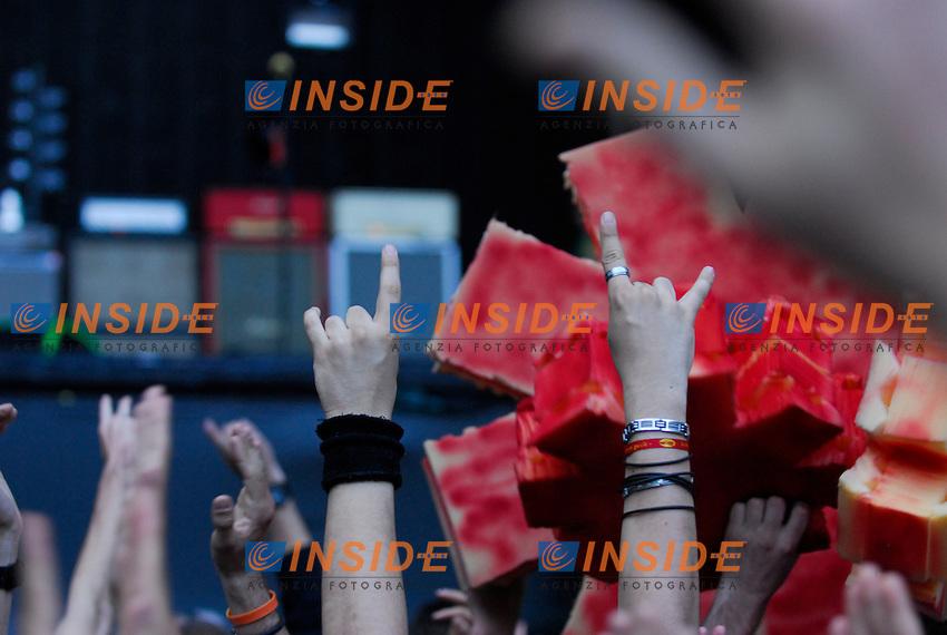 .Parigi 30/06/2012 Concerto dei Red Hot Chili Peppers allo Stadio di Francia..Photo Federico Pestellini /Panramic/Insidefoto.ITALY ONLY.