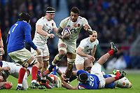 Courtney Lawes of England takes on the France defence. Guinness Six Nations match between England and France on February 10, 2019 at Twickenham Stadium in London, England. Photo by: Patrick Khachfe / Onside Images