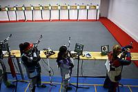 BARRANQUILLA - COLOMBIA, 22-07-2018:Modalidad  Rifle 10m Aire Mujeres por equipos  .Juegos Centroamericanos y del Caribe Barranquilla 2018. / Rifle Modality 10 meters Air Women category by teams of the Central American and Caribbean Sports Games Barranquilla 2018. Photo: VizzorImage /  Contribuidor