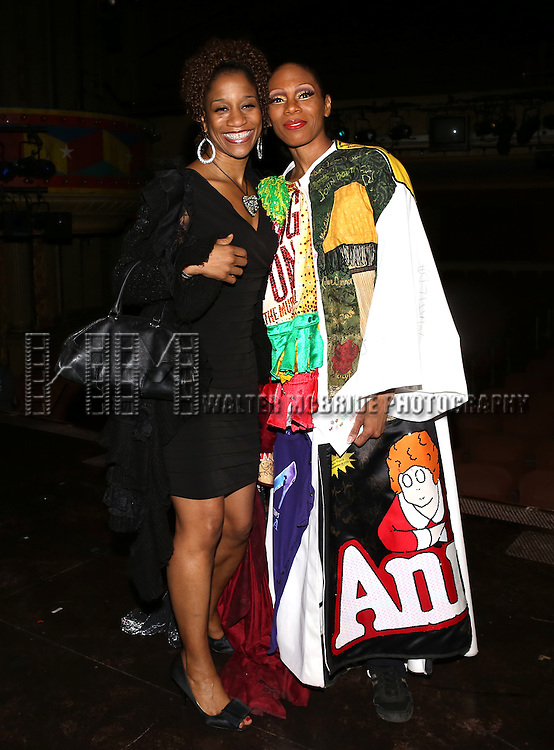 Judine Judson & Stephanie Pope  attending the Broadway Opening Night Gypsy Robe Ceremony honoring Stephanie Pope for 'Pippin' at the Music Box Theatre in New York City on 4/25/2013