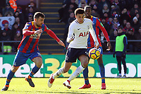 Dele Alli of Tottenham Hotspur and James McArthur of Crystal Palace during Crystal Palace vs Tottenham Hotspur, Premier League Football at Selhurst Park on 25th February 2018
