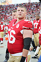 August 26 2016: Offensive Lineman Alex Balducci of the San Francisco 49ers before a 21-10 loss to the Green Bay Packers at Levi's Stadium in Santa Clara, Ca.