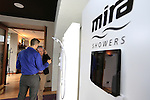 during the Mira Elite Shower product launch in the Mansion House, Dublin Ireland.<br /> Picture Fran Caffrey /Newsfile.ie<br /> <br /> <br /> Founded in 1921, Mira is the UK's leading manufacturer of mixer, electric, power and digital showers.  The entire range of showers and accessories, such as taps and shower trays, use stylish design and innovative technology to deliver a high performance showering experience in every price range.  Mira is owned by leading American bathroom manufacturer Kohler Co. Mira shower products are available in retailers nationwide, including B&Q, and can be found in one in four homes in the UK.<br /> <br /> Mira Showers have now proved they are better by design by winning a Red Dot Award with the high design quality of the Fluency tap. The panel of international experts discussed and evaluated 4,815 entries from 53 countries, but only designs with quality and innovative strength won an award. <br /> <br /> Mira Showers is celebrating the launch in Ireland with the introduction of the Mira Elite to the market. 75% quieter than any other pumped electric shower, the Mira Elite is the perfect solution for any low pressure water systems.<br /> <br /> The Mira Elite has been acoustically engineered to make it the quietest electric shower around and with an integrated pump, this shower will always guarantee a strong and consistent water flow. Conveniently designed, the filter is easily accessible allowing it to be straightforwardly cleaned and the four spray showerhead with rub-clean nozzles, allows your shower to maintain its performance.