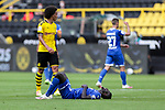 Ihlas Bebou (TSG 1899 Hoffenheim, #9) am Boden, links Axel Witsel (Borussia Dortmund, #28); 1. Fussball-Bundesliga; Borussia Dortmund - TSG Hoffenheim am 27.06.2020 im Signal-Iduna-Park in Dormund (Nordrhein-Westfalen). <br /> <br /> FOTO: BEAUTIFUL SPORTS/WUNDERL/POOL/PIX-Sportfotos<br /> <br /> DFL REGULATIONS PROHIBIT ANY USE OF PHOTOGRAPHS AS IMAGE SEQUENCES AND/OR QUASI-VIDEO. <br /> <br /> EDITORIAL USE OLNY.<br /> National and<br /> international NewsAgencies OUT.<br /> <br /> <br /> <br /> Foto © PIX-Sportfotos *** Foto ist honorarpflichtig! *** Auf Anfrage in hoeherer Qualitaet/Aufloesung. Belegexemplar erbeten. Veroeffentlichung ausschliesslich fuer journalistisch-publizistische Zwecke. For editorial use only. DFL regulations prohibit any use of photographs as image sequences and/or quasi-video.
