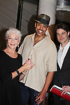 Celebrating 25 years of Pennsylvania Shakespeare Festival 2016 - opening night of Shakespeare's Julius Caesar starring Keith Hamilton Cobb - All My Children as Julius Caesar and costar Spencer Plachy as Mark Antony on June 23, 2016 and pose with One Life To Live Linda Thorson who will be starring in Blithe Spirit and The Taming of the Shrew. (Photo by Sue Coflin/Max Photos)