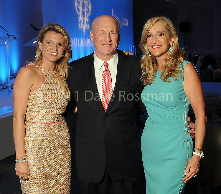 From left Lindley Arnoldy with parents Scotty and Jana Arnoldy at the annual Houston Chronicle's Best Dressed Luncheon at the Westin Galleria Hotel Tuesday April 3, 2013.(Dave Rossman photo)