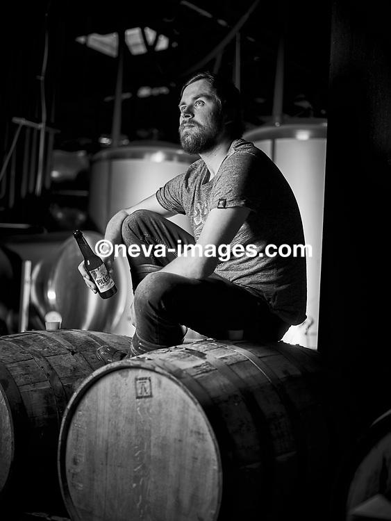 Avril 2017, Brasseurs de Bière en Valais, Chris Treanor, l'irlandais de White Frontier<br /> © sedrik nemeth