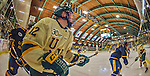 29 December 2013:  University of Vermont Catamount Forward Mike Stenerson, a Freshman from Surrey, British Columbia, in second period action against the Canisius College Golden Griffins at Gutterson Fieldhouse in Burlington, Vermont. The Catamounts defeated the Golden Griffins 6-2 to capture the 2013 Sheraton/TD Bank Catamount Cup NCAA Hockey Tournament for the second straight year. Mandatory Credit: Ed Wolfstein Photo *** RAW (NEF) Image File Available ***