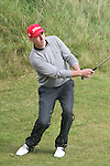 Day one of the Irish PGA championship at Seapoint Golf Club, Oliver Grogan hitting onto the 9th green...Picture Jenny Matthews/Newsfile.ie