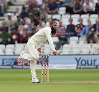 England's Moeen Ali<br /> <br /> Photographer Stephen White/CameraSport<br /> <br /> Investec Test Series 2017 - Second Test - England v South Africa - Day 1 - Friday 14th July 2017 - Trent Bridge - Nottingham<br /> <br /> World Copyright &copy; 2017 CameraSport. All rights reserved. 43 Linden Ave. Countesthorpe. Leicester. England. LE8 5PG - Tel: +44 (0) 116 277 4147 - admin@camerasport.com - www.camerasport.com