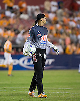 Pachuca FC goalkeeper Miguel Calero (1).  Houston Dynamo defeated Pachuca FC 2-0 in the semifinals of the Superliga 2008 tournament at Robertson Stadium in Houston, TX on July 29, 2008.