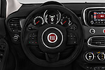 Car pictures of steering wheel view of a 2016 Fiat 500X Trekking-Plus-4WD 5 Door SUV Steering Wheel