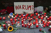 Loveparade 2010, Duisburg, Germany, candles place after the tragic event