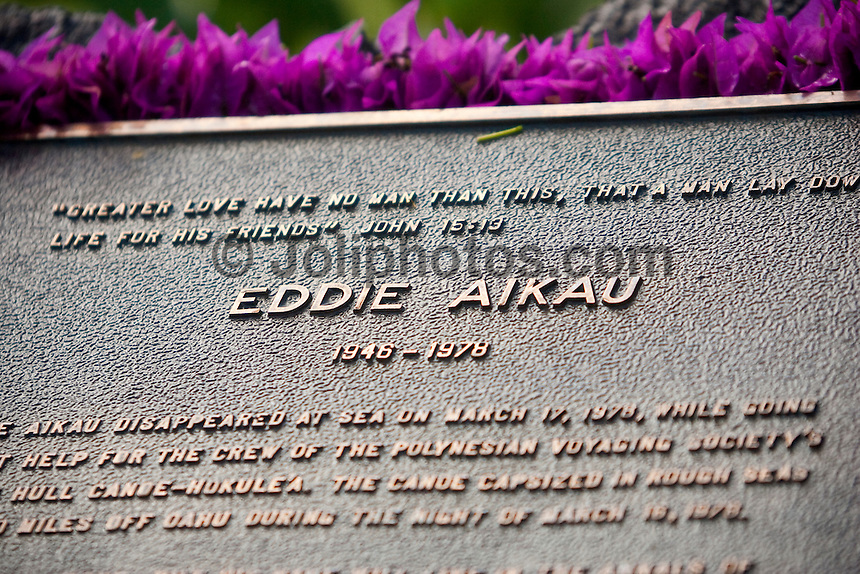 The Quiksilver in memory of Eddie Aikau Big Wave Invitational Opening Ceremony held at Waimea Bay on the North Shore of Oahu, Hawaii today December 2, 2004. Photo: Joli