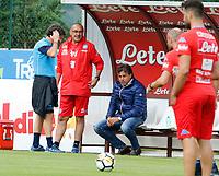 Cristiano Giuntoli Maurizio Sarri  durante il  ritiro precampionato del SSC Napoli a Dimaro<br />  05 Luglio  2017