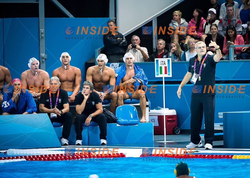 CAMPAGNA Alessandro ITA.Italy Vs. Australia .Water Polo men preliminary Round.London 2012 Olympics - Olimpiadi Londra 2012.day 03 July 29.Photo G.Scala/Deepbluemedia.eu/Insidefoto