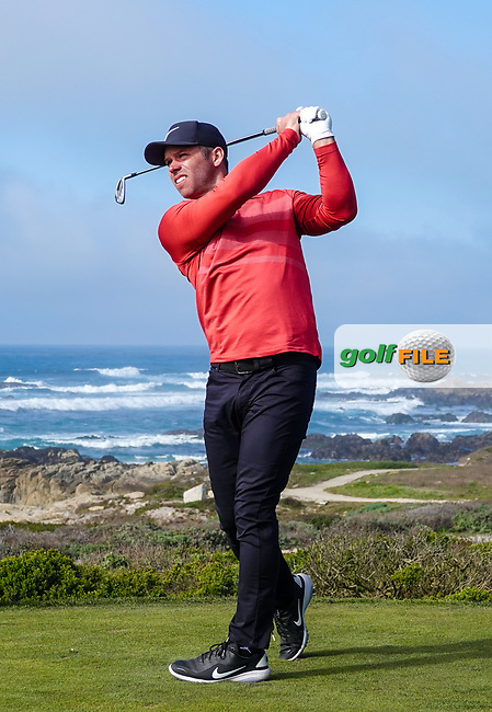 Paul Casey (ENG) in action at Spyglass Hill during the second round of the AT&T Pro-Am, Pebble Beach, Monterey, California, USA. 06/02/2020<br /> Picture: Golffile | Phil Inglis<br /> <br /> <br /> All photo usage must carry mandatory copyright credit (© Golffile | Phil Inglis)