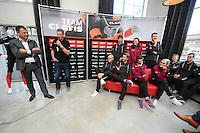SCHAATSEN: HEERENVEEN: 21-10-2016, Perspresentatie Team Clafis, directeur Bert Jonker en trainer coach Jillert Anema(rechts), ©foto Martin de Jong