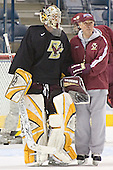 Joe Pearce, Jerry York - The Boston College Eagles took their morning skate on Saturday, April 8, 2006, at the Bradley Center in Milwaukee, Wisconsin to prepare for the 2006 Frozen Four Final game versus the University of Wisconsin.