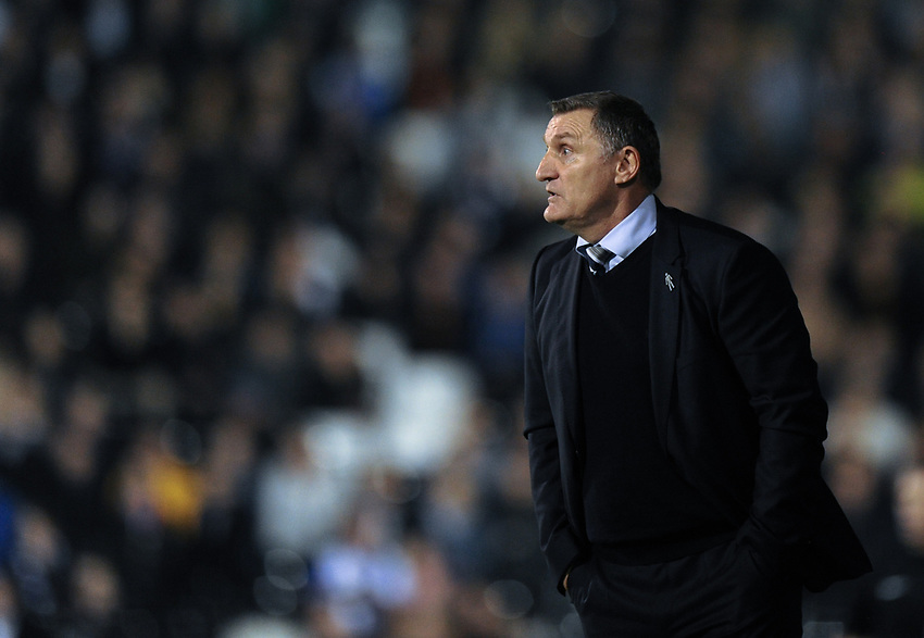 Blackburn Rovers manager Tony Mowbray<br /> <br /> Photographer /Ashley WesternCameraSport<br /> <br /> The EFL Sky Bet Championship - Fulham v Blackburn Rovers - Tuesday 14th March 2017 - Craven Cottage - London<br /> <br /> World Copyright &copy; 2017 CameraSport. All rights reserved. 43 Linden Ave. Countesthorpe. Leicester. England. LE8 5PG - Tel: +44 (0) 116 277 4147 - admin@camerasport.com - www.camerasport.com