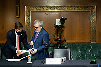 Andrew Wheeler, Administrator, United States Environmental Protection Agency  arrives during a Senate Environment and Public Works Committee hearing, on Capitol Hill in Washington, D.C., U.S., on Wednesday, May 20, 2020. <br /> Credit: Al Drago / Pool via CNP/AdMedia