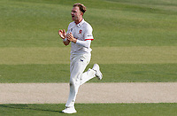 Sam Cook of Essex celebrates taking the wicket of Hamidullah Qadri during Essex CCC vs Kent CCC, Bob Willis Trophy Cricket at The Cloudfm County Ground on 3rd August 2020